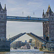 Tower Bridge Opened Art Print