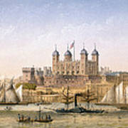 Tower Of London, 1862 Art Print