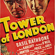 Tower Of London, Top L-r Boris Karloff Art Print