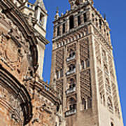 Tower Of The Seville Cathedral Art Print