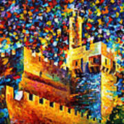 Tower - Palette Knife Oil Painting On Canvas By Leonid Afremov Art Print