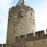 Tower Town Wall - Carcassonne Art Print