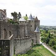 Towers And Townwall  - Carcassonne Art Print