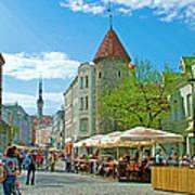 Towers As Gateways To Old Town Tallinn-estonia Art Print
