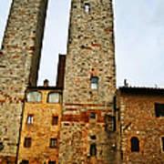Towers Of San Gimignano Art Print