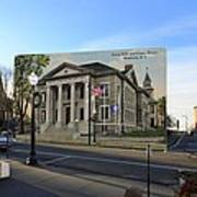Town Hall And Court House In Westerly Rhode Island Art Print