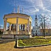 Town Of Bjelovar Central Park Art Print