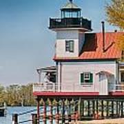 Town Of Edenton Roanoke River Lighthouse In Nc Art Print
