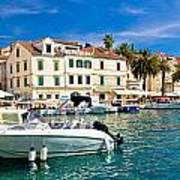 Town Of Hvar Waterfront View Art Print