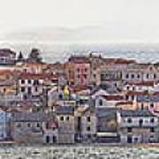 Town Of Primosten Panoramic View Art Print