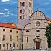 Town Of Zadar Historic Church Art Print