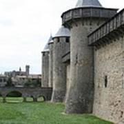 Town Wall - Carcassonne Art Print