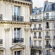 Townhouses In Montmartre Paris France Art Print