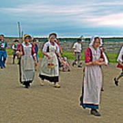 Townsfolk On Main Street In Louisbourg Living History Museum-174 Art Print