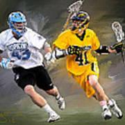 College Lacrosse 7 Art Print