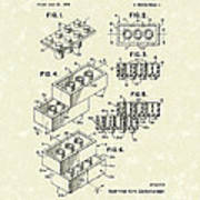 Toy Building Brick 1961 Patent Art Art Print