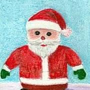 Toy Santa Art Print