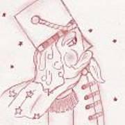 Toy Soldier Nutcracker In Red Art Print