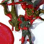 Toy Soldiers In A Pool Of Blood Art Print