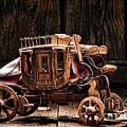 Toy Stagecoach Art Print