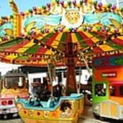 Toy Town Carousel  Art Print
