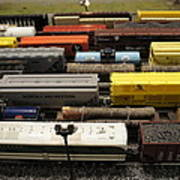 Toy Trains Art Print
