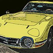 Toyota 2000 Gt Art Print by Samuel Sheats