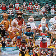 Toys And Nutcrackers For Sale Art Print by Ronda Broatch