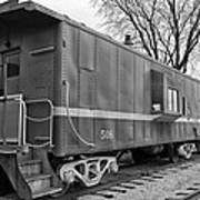Tpw Rr Caboose Black And White Art Print