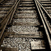 Tracks Into Tracks - 2 Art Print