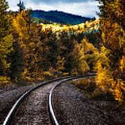 Tracks Through The Mountains  Art Print