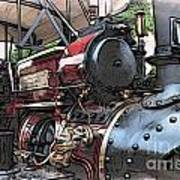 Traction Engine 2 Art Print