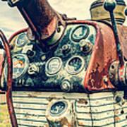 Tractor Dash - Farmall 560 Diesel Art Print