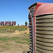 Tractor On The Pumpkin Farm Art Print