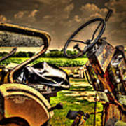 Tractor Seat Art Print