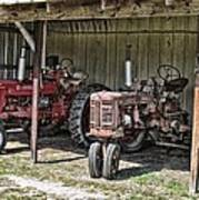 Tractors In The Shed Art Print