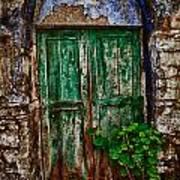 Traditional Door Art Print by Emmanouil Klimis