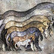Traditional Horses Art Print