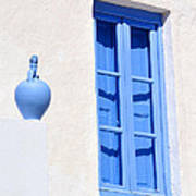 Traditional House In Serifos Town Art Print