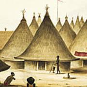 Traditional Native Village Circa 1840 Art Print