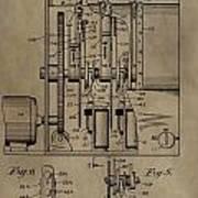 Traffic Signal Patent Art Print