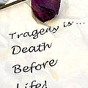 Tragedy Art Print
