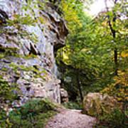 Trail Beside The Cliff Wildcat Den State Park Art Print