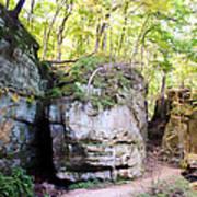 Trail Through The Rocks Wildcat Den State Park Art Print