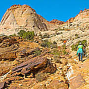 Trail Up To The Tanks From Capitol Gorge Pioneer Trail In Capitol Reef National Park-utah Art Print