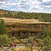 Trail View Of Spruce Tree House On Chapin Mesa In Mesa Verde National Park-colorado Art Print
