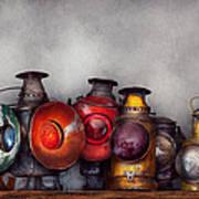 Train - A Collection Of Rail Road Lanterns  Art Print