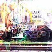 Train Abstract Blend 6 Art Print