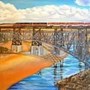 Train And Terrain  Art Print