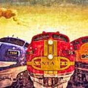 Train Art At Union Station Art Print